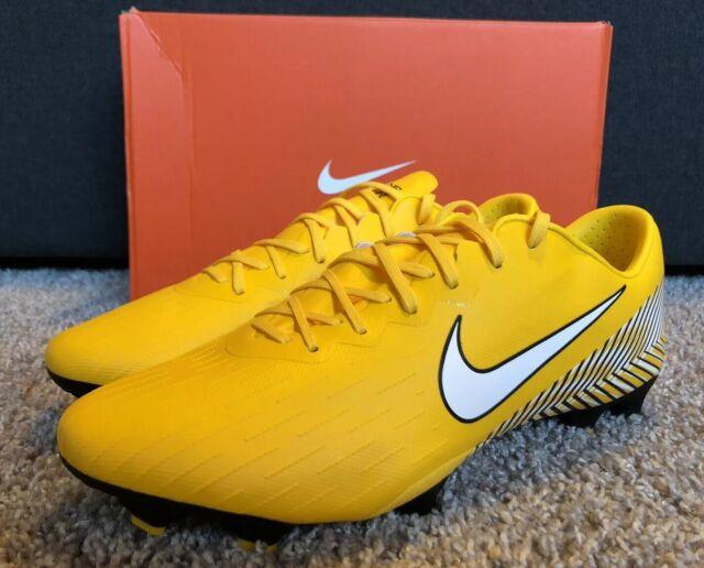cheaper a2954 ef129 Nike Mercurial Vapor XII 12 Pro NJR FG Neymar Yellow Ao3123-710 Men's Size 9