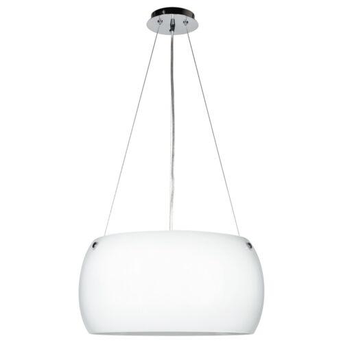 Pendelleuchte E27 Glas Küche Metall Schlicht weiss