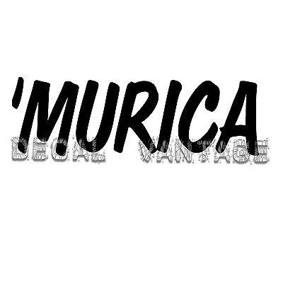 vinyl *Multiple colors /& Sizes* murica merica america /'Murica sticker decal