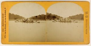Versailles-Bassin-Francia-Foto-Stereo-PL55L5n-Vintage-Albumina-c1870