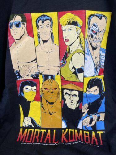 1993 Mortal Kombat Vintage T Shirt Video Game  RAR