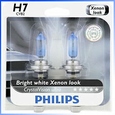 Philips Genuine H7 12972CVB2 CrystalVision Ultra Upgrade Headlight Bulb, 2 Pack