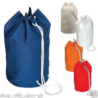 Sailor Drawstring Duffle Yachter Bag 100/% Cotton Shoulder Rucksack Backpack Bag