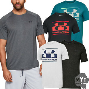 Under-Armour-Mens-T-shirt-Gym-Active-Wear-Sports-Branded-Logo-Cotton-Tee-Top