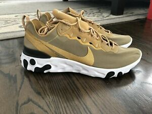 NIKE React Element 55 Metallic Gold BQ6166-700 Running. NEW Men/'s CHOOSE SZ