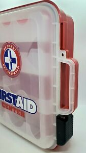 Be Smart First Aid Kit Hard Red Case only. Empty, storage