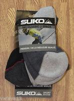2 Pr Mens Suko Sport Comfort Ski Socks Black/gray-l