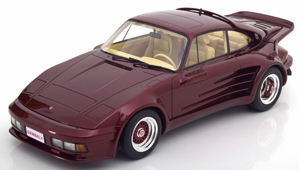1986 Porsche 911 Turbo Gemballa Rouge Foncé Métal par Bos  Modèles le de 504 1 18  bienvenue à l'ordre
