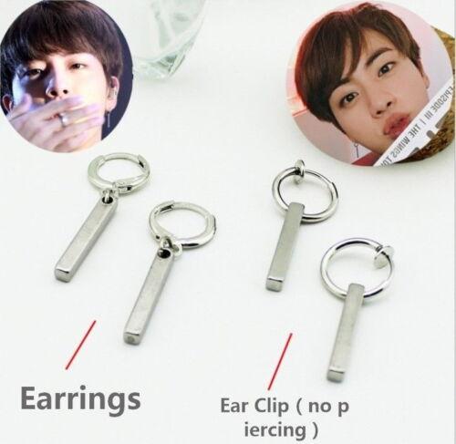 Kpop Jimin Jin Earrings Fashion Clip on Ear Stud FR736