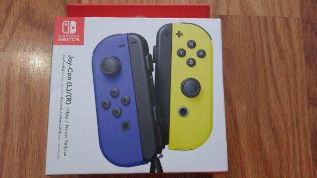 Nintendo Switch Blue / Neon Yellow Joy-Con OEM Genuine