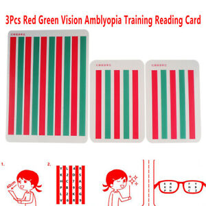 3Pcs-Red-Green-Vision-Myopia-Strabismus-Amblyopia-Training-Reading-Disinhibit-rd