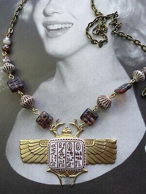 Sphinx Egyptian hieroglyphic necklace