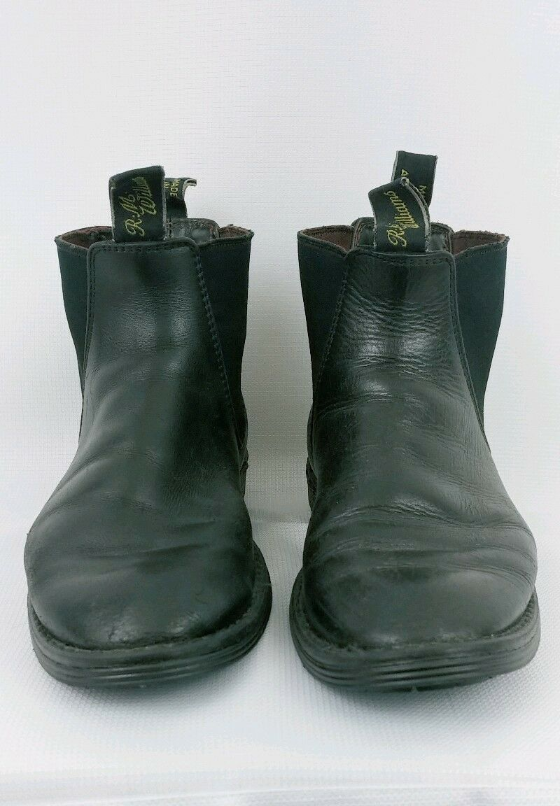 RM Williams 7 F 8 41 Mens Ankle Craftsman Black Leather Boots