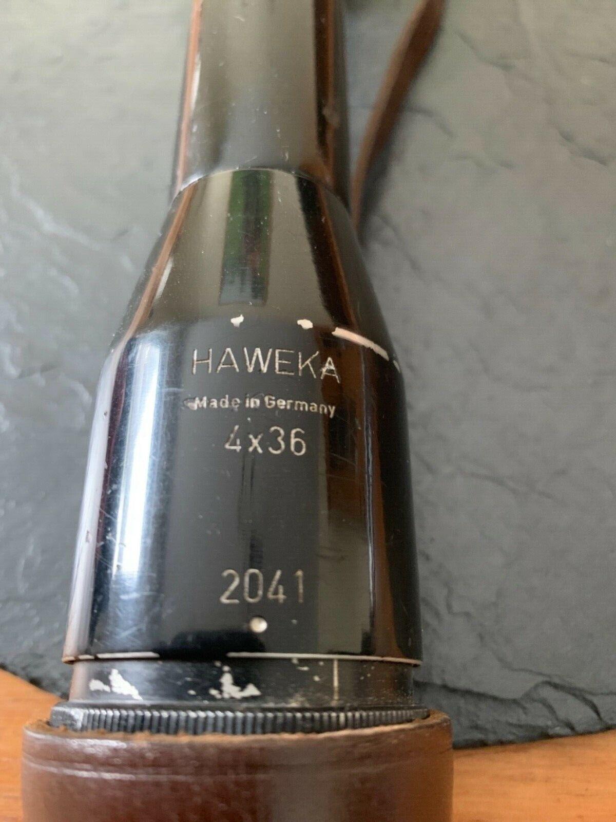 De alta calidad telescópica  Haweka  4x36 made in Germany con cuero tapas de projoección