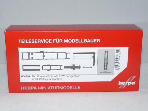 2 trozo de nuevo Herpa 084314 abrollkinematik para todos los camiones-carretones contenido embalaje original