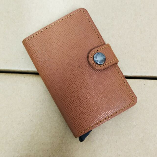 Men RFID Credit Card Holder Protector Minimalist Leather Wallet for Max 12 Cards