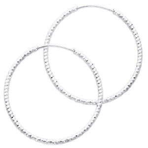 Image Is Loading 14k White Gold 1mm Thickness Small Diamond Cut