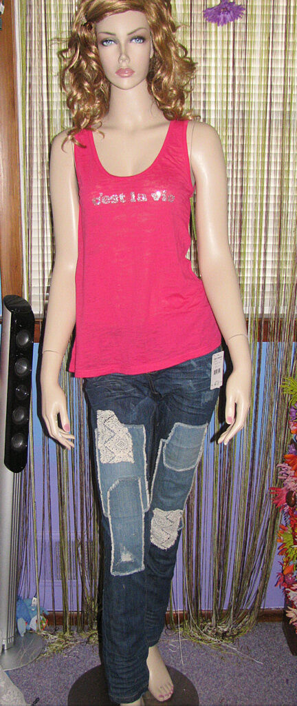 NEW  FREE PEOPLE Sold Out Patchwork SLIM LEG STRETCH Denim JEANS 24 26 27 28