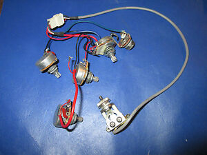 gibson epiphone les paul standard guitar wiring harness pots switch and jack ebay. Black Bedroom Furniture Sets. Home Design Ideas