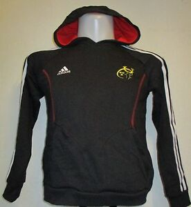 MUNSTER RUGBY DARK GREY HOODIE BY ADIDAS SIZE 11-12 YEARS BRAND NEW ... 4d2a9c2fb567