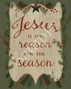 Image Is Loading Primitive Christmas Jesus The Reason For