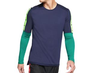 etiqueta Coca Derechos de autor  Camiseta Nike Running Para Hombre Medio Azul Nuevo Manga Larga Seco  respirar Wild Run Top | eBay