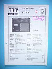 Service manual manual for ITT/Schaub-Lorenz RC 2020 ,ORIGINAL