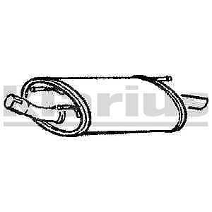 5 YEAR WARRANTY Tail Pipe FE530E Klarius Rear Exhaust Back Box Silencer