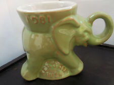 1981 GREEN MUG FOR THE AMERICAN PRESIDENTIAL ELECTION CAMPAIGN  REAGAN AND BUSH