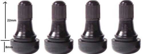 4 x TR412 Snap in Valvole tubeless corta 11.5 VALVOLA 22mm di lunghezza si adatta a FORD Models