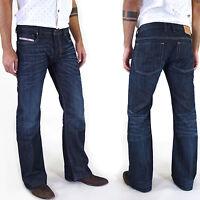 Neu & Original DIESEL ZATHAN Herren Jeans Hose BOOT-CUT INDIGO Alle Größen