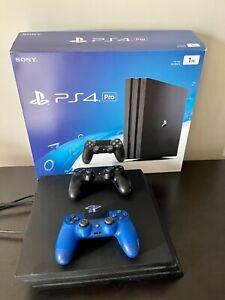 Sony-PlayStation-4-Pro-1TB-Console-Black-Extra-Controller-Original-Box