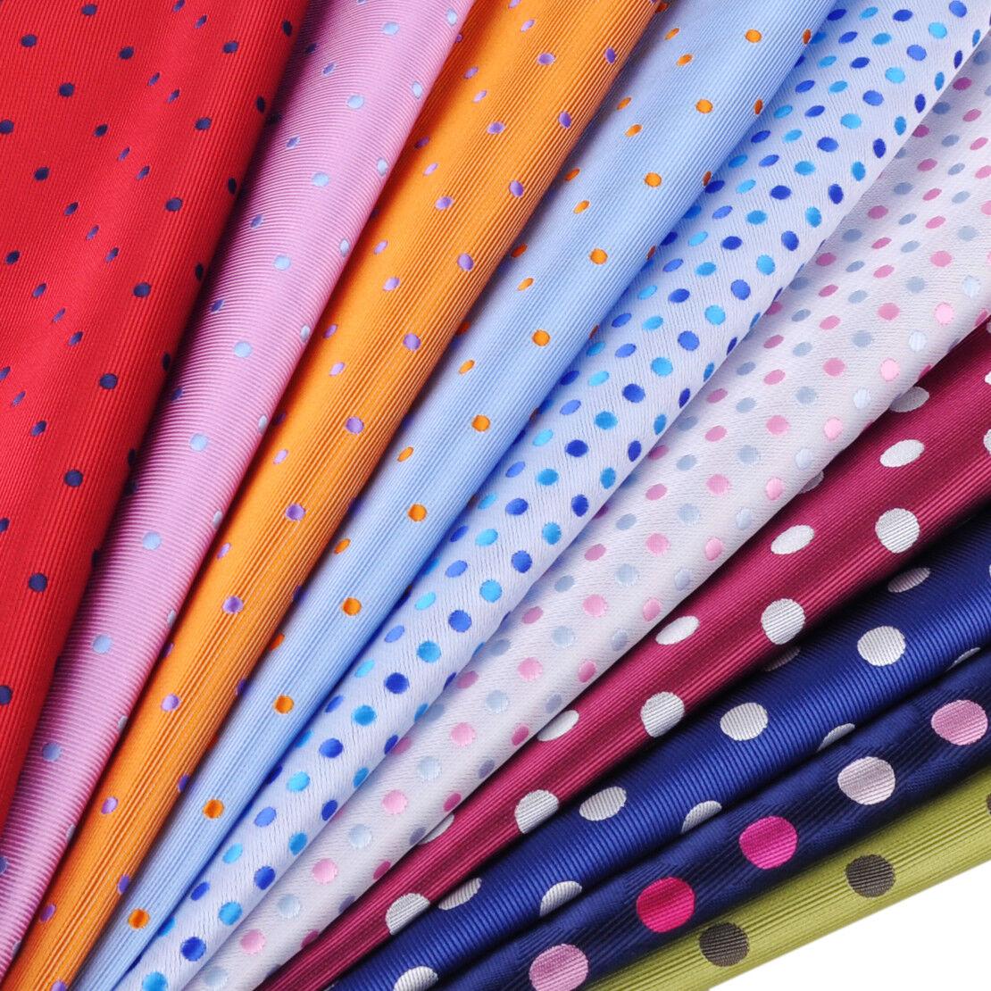 Herren Einstecktuch Mode Punkte Taschentuch Polyester Hochzeit Party Gift 25cm