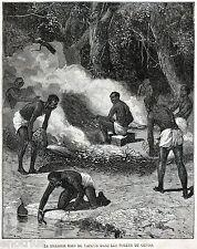 IDROTERAPIA: IL PRIMO BAGNO DI VAPORE. Storia della Medicina. Stampa Antica.1880