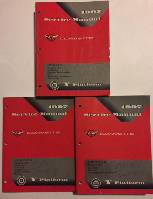 1997 Chevrolet Corvette Shop Manual 3 Volume Set Repair Service Original Oem