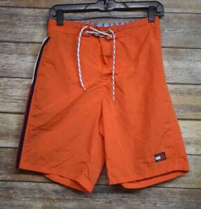 Vintage 90'S Tommy Hilfiger Flag Swim Shorts