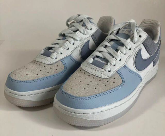 Womens Air Force 1 Low Premium Light Armory Blue/Off White ...