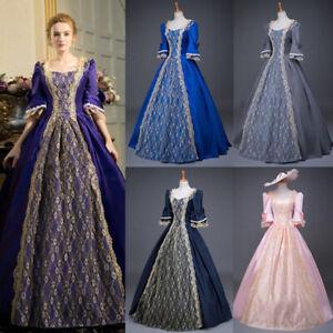 Plus Size Women Renaissance Victorian Dress Half Sleeve Lace Ball Gown Dress