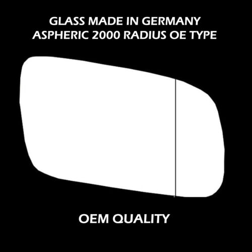 06-2000 to 06-2003 Right Hand side Audi A3 Wing Mirror Glass Aspheric