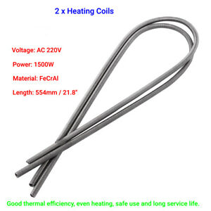 2x-Kiln-Furnace-Heating-High-Resistance-Wire-AC-220V-1500W-Length-554mm