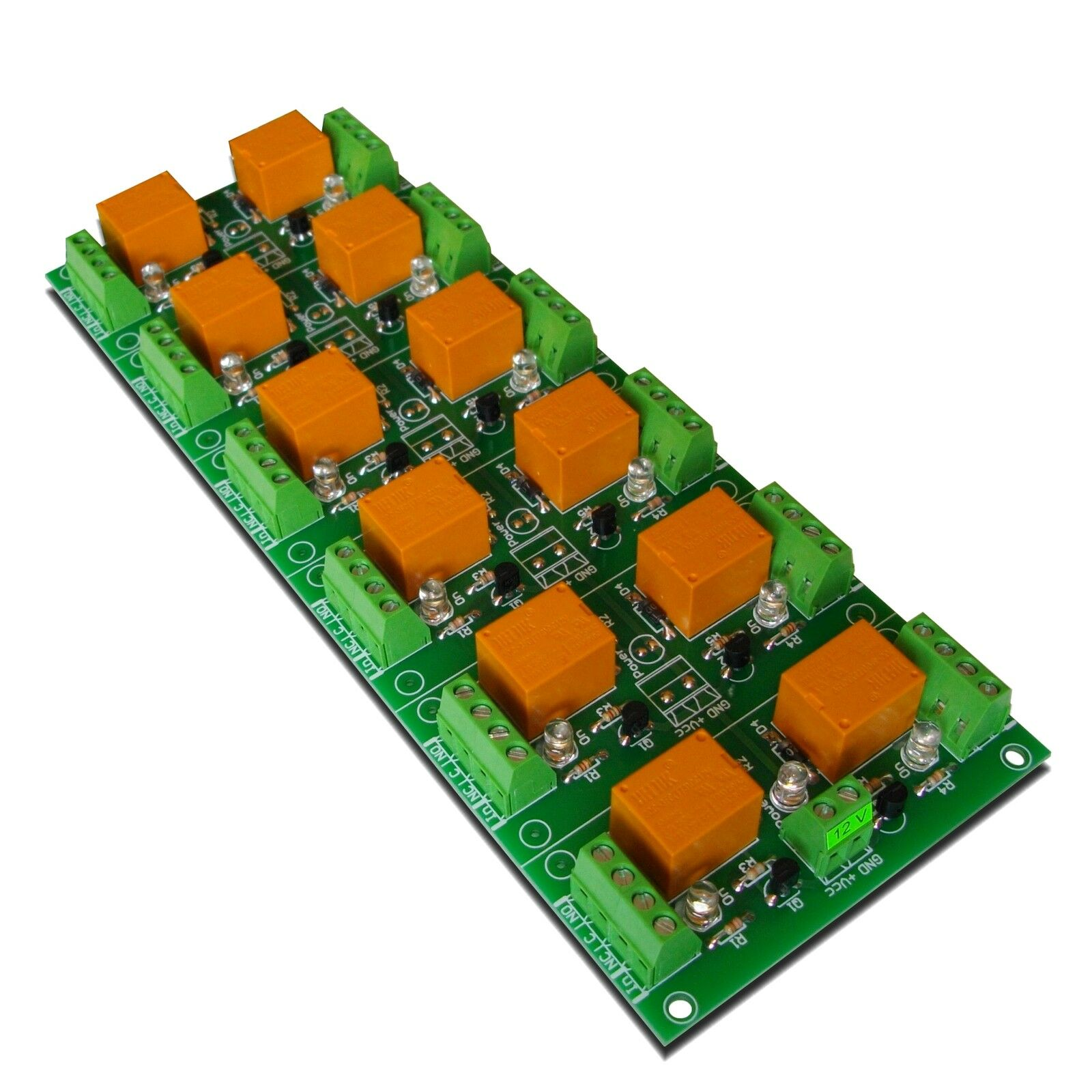 12 Channel Relay Output Board (12VDC) - controlled by MCU TTL levels