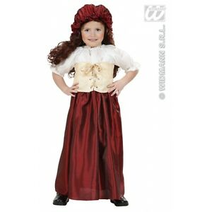 Carnevale Costume Vestito Contadina Bambina 34 Anni Ebay