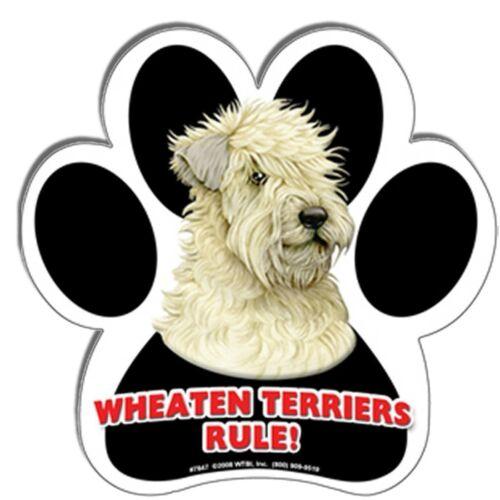 Wheaten Terrier Paw Print Dog Magnet