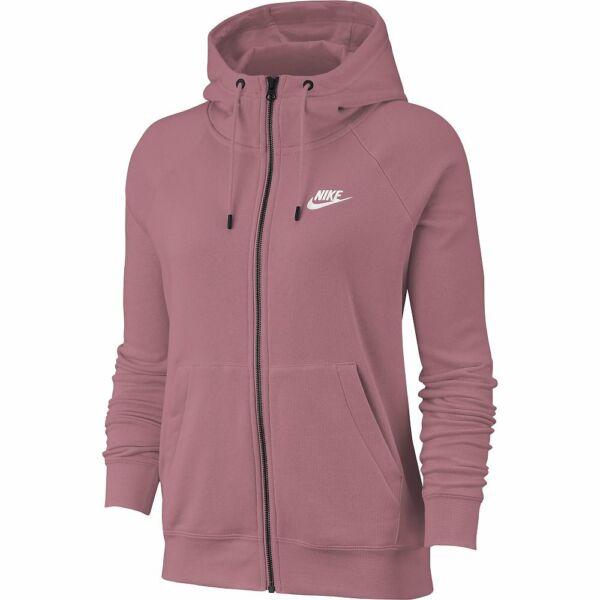 Nike Damen Kapuzenjacke Trainingsjacke Sportswear Essential Pink/Weiß BV4122-614