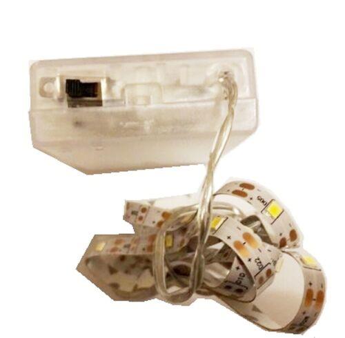 LED Leiste,1m warm weiß 30 LED Selbstklebend flexibel Batteriebetrieben