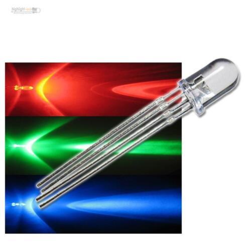 multicolor RGBs 10 RGB LEDs 4-polig rot grün blau LED steuerbar 3-Chip 4-Pin