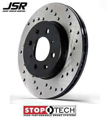 15-19 Mustang GT with Brembo Front StopTech Cross Drilled /& Slotted Brake Rotors