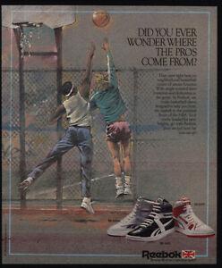 1986 REEBOK BB 4600 - 5600 - 6600 High-Top Basketball Shoes - Players VINTAGE AD