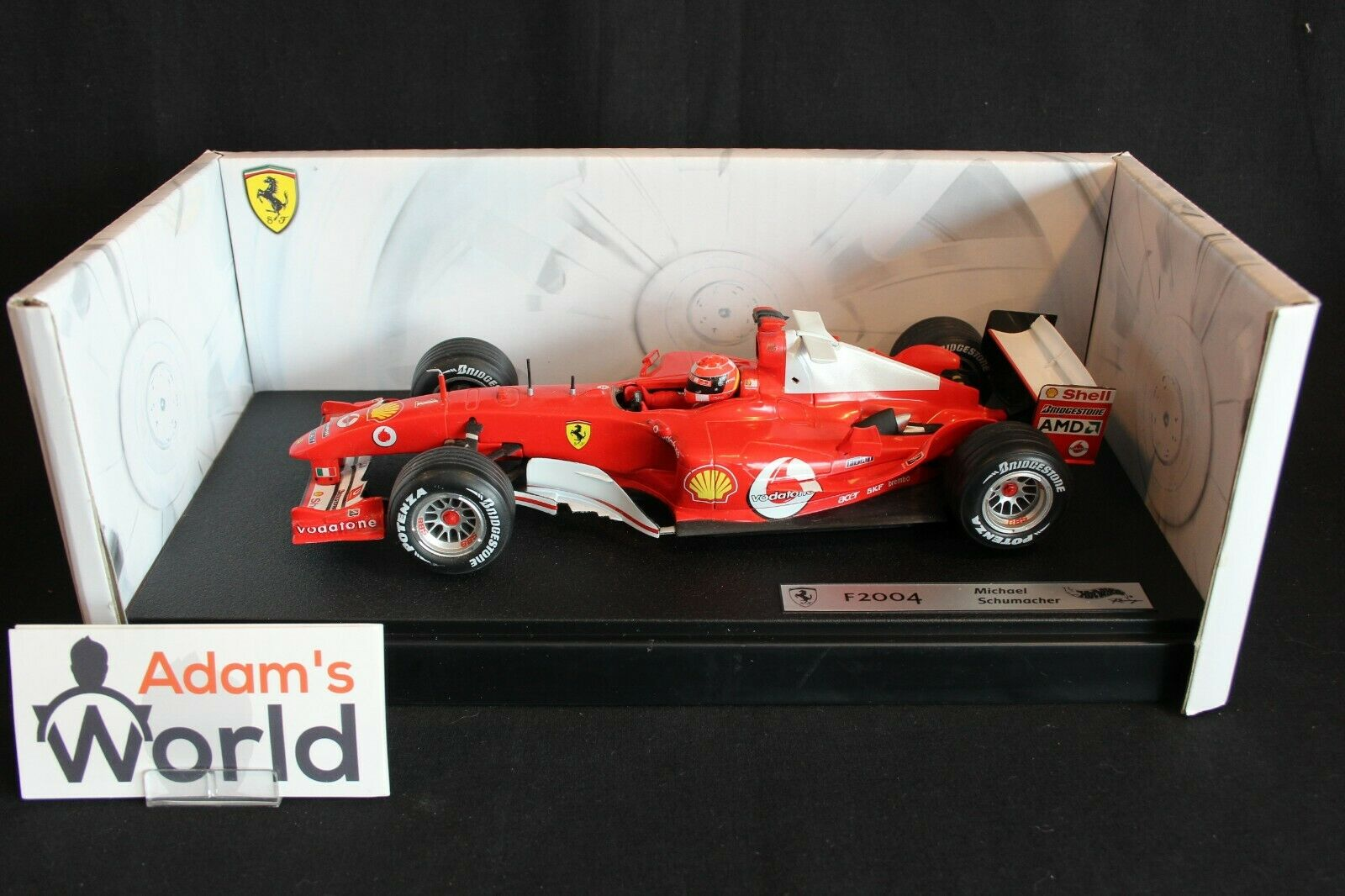 Hot Wheels Ferrari F2004 2004 1 18 Michael Schumacher (GER) (PJBB)