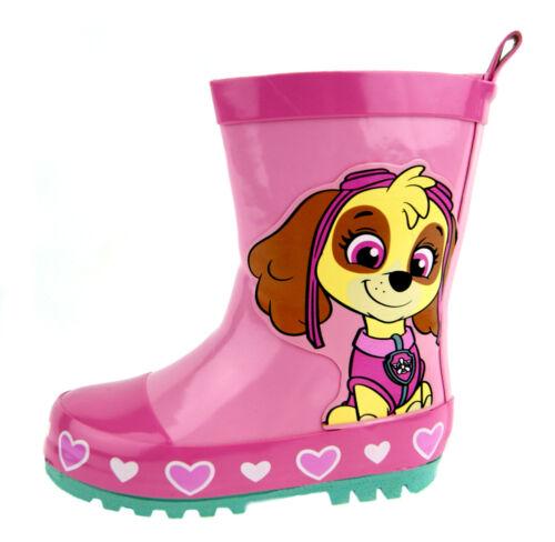 Details about  /Paw Patrol Wellington Boots Kids Pink Skye Snow Rain Boots Wellies Shoes Kids